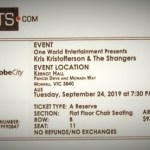 Kris Kristofferson Canberra ticket 2019