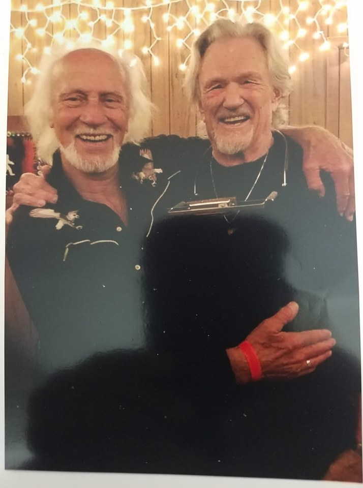 Chris Gantry with Kris Kristofferson in Nashville 22 October 2019