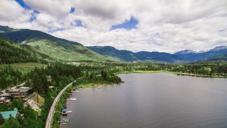 Alta Lake Whistler - Neighborhoods come into focus from the air.