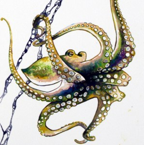 Watercolor_Painting_Small_Octopus_Detail3