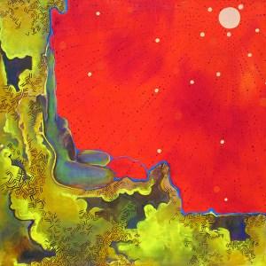 Sun Figure Canvas Oil Painting