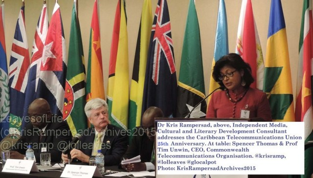 Dr Kris Rampersad address anniversary of Caribbean Telecommunications Union