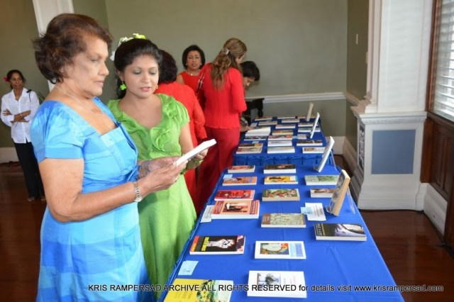 Dr Kris Rampersad and First Lady in tribute to literary genius