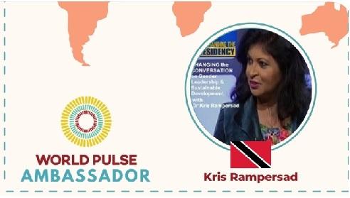 Dr Kris Rampersad featured WorlPulse Ambassador for work in gender leadership and empowerment
