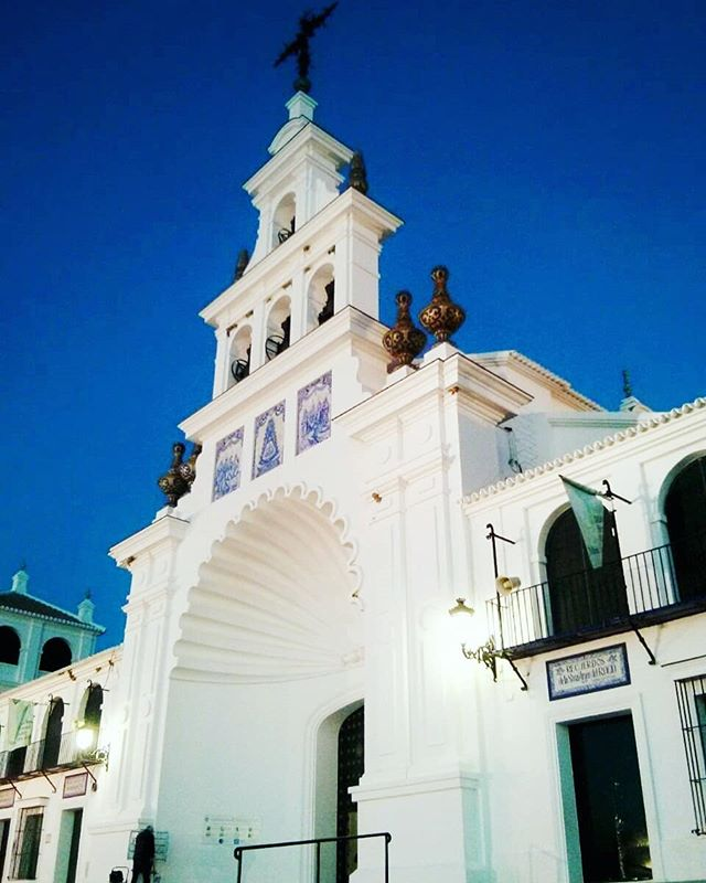 Santuario Nuestra Señora del Rocío. This is a very sacred Catholic church in #Andalucia #Spain . It's in #Huelva where every year thousands of pilgrims visit this #church ; spends time with family and friends and wait for the procession of the statue of its virgin to come out in the very early morning. It's a curious event to attend...#insta #instapic #tour #happy #PicOfTheDay #magnificientShot #Sexy #holiday #MyStory #WorldTour #vacaciones #holidayporn #relax #OnTheRoad #HappyMoments #love #enjoy #family #fun #vacation #shopping #life #healthy #dream #DreamVacation