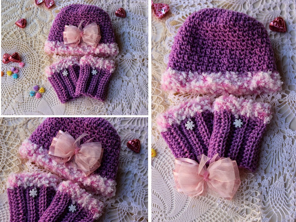 Girls Hat and Boot Cuff Sets