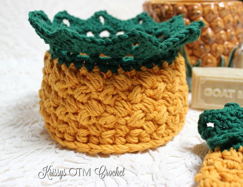 Crochet Pineapple Basket