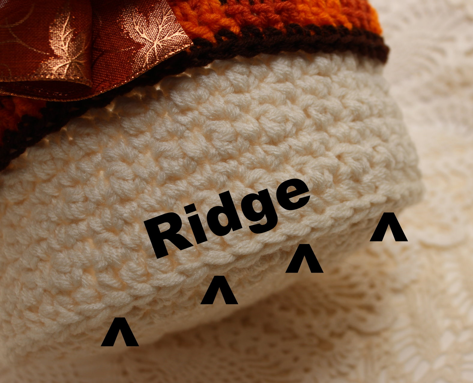 Crocheted ridge