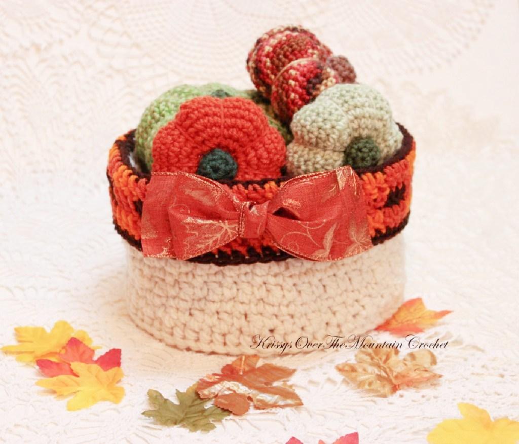 Round Plaid Pumpkin Basket