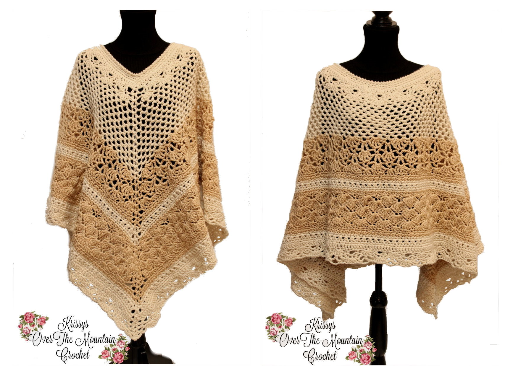 1x - 3x Over Brook Poncho