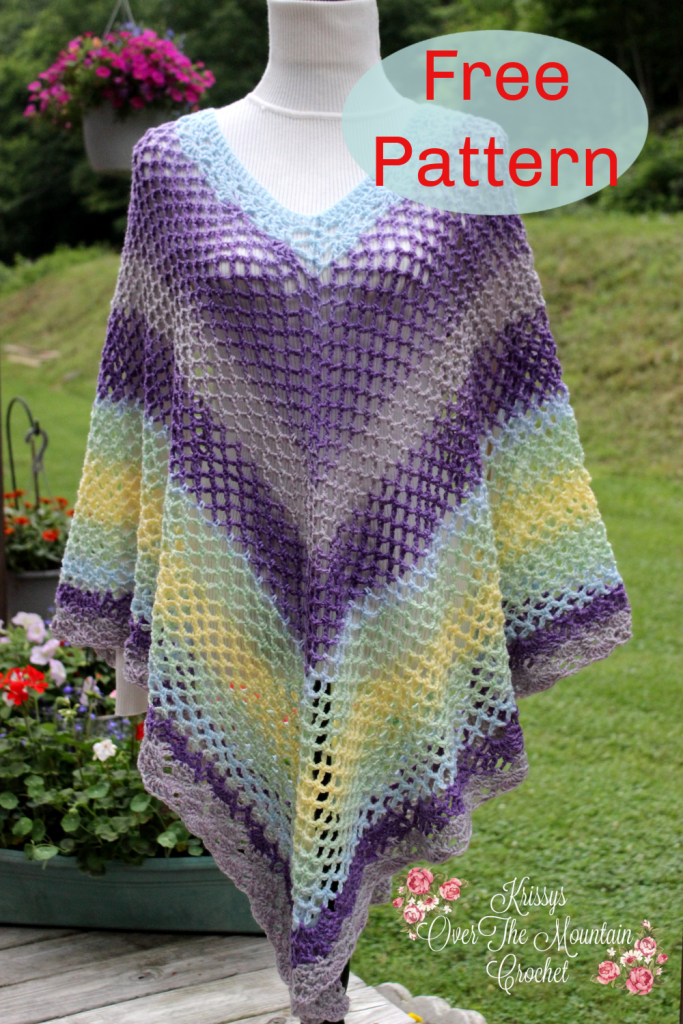 Mesh Over Brook Poncho Pin Photo