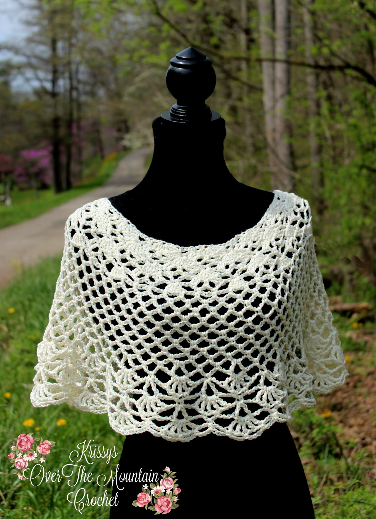 Over Brook Capelet Poncho Crochet Pattern Krissys Over The