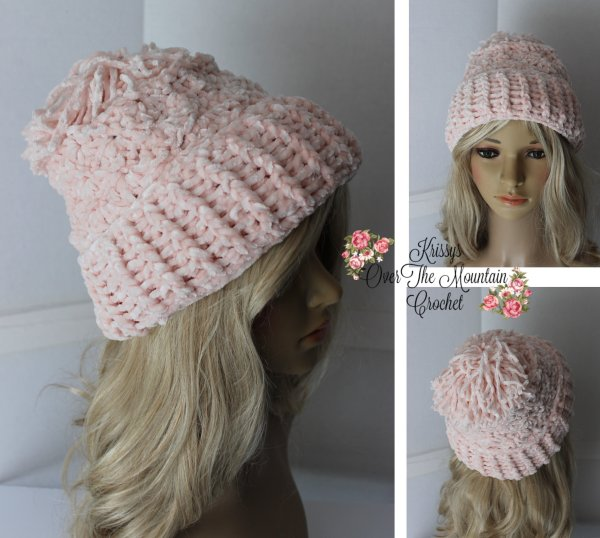 I love this pink Boston Velvet Hat! This great design is quick and fun to crochet!