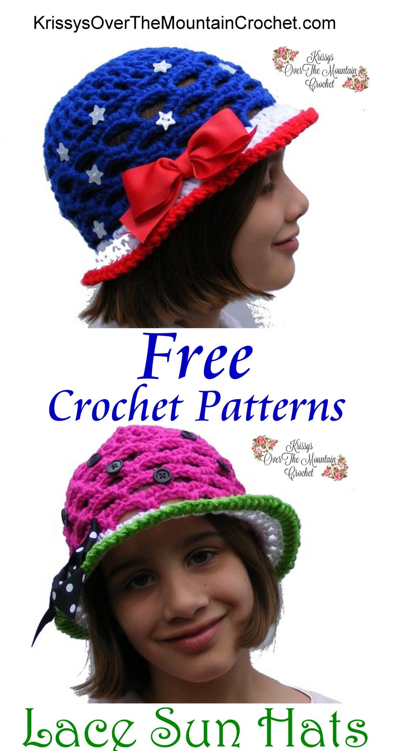 Children's Lace Sun Hat