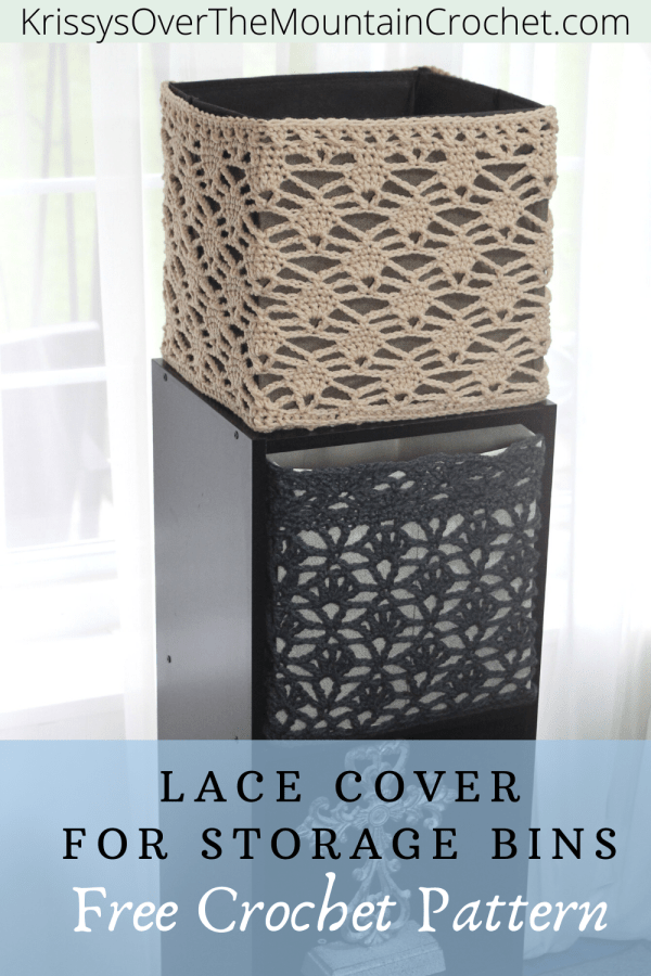 Pin - How To Make Candle Light Lace Cube Cover - Crochet Pattern