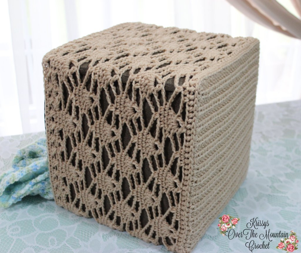 Candle Light Lace Cube Cover - Crochet Pattern
