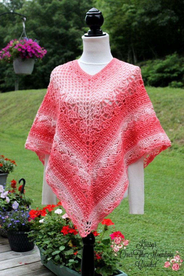 Over Brook Poncho Free Crochet Pattern for XS-Small