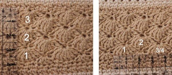 Over Brook Poncho crochet gauge