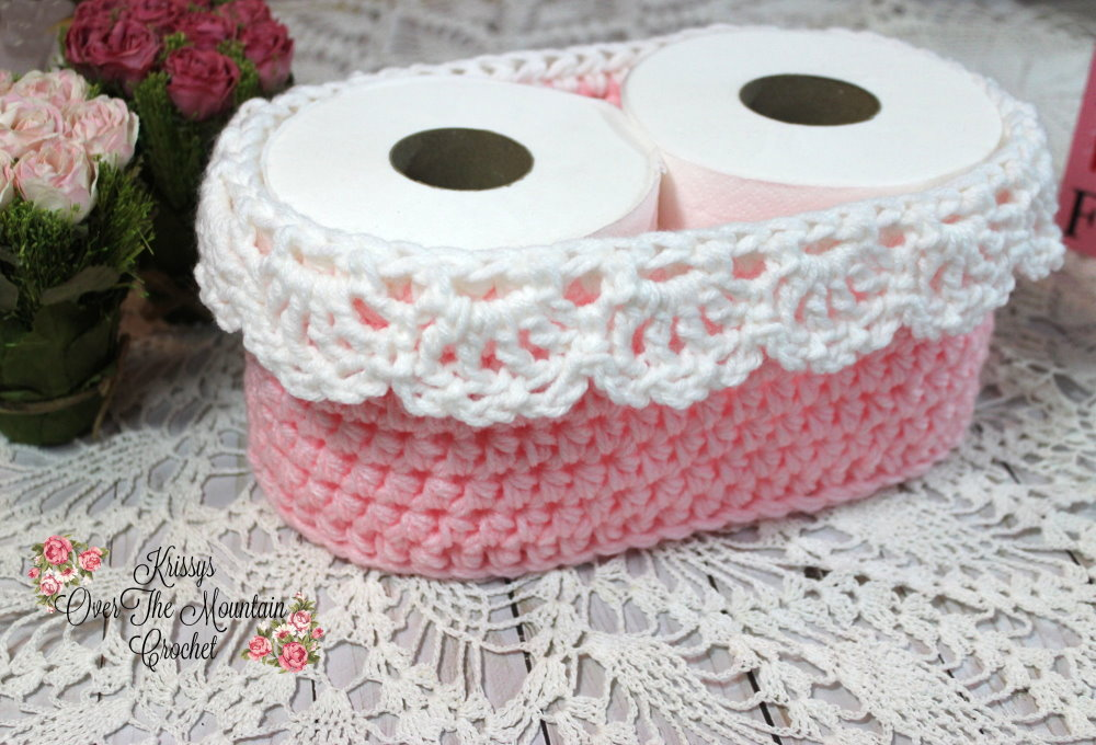 This beautiful toilet paper basket can hold a box of tissues or any item that you wish, then gift it to a friend or loved one.