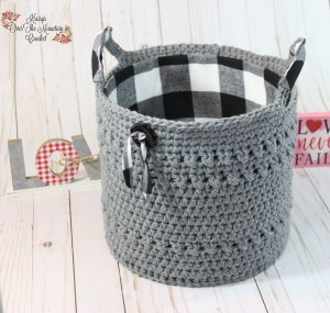 Crochet this large basket with Caron One Pound yarn. It's so easy to crochet. Make this basket sturdy by adding a fabric covered cardboard liner.