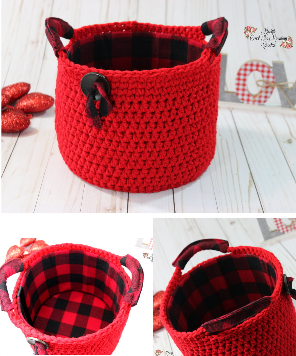What a lovely storage basket with handles. It is so easy and fast to crochet. Of course you can add embellishments and add a lining.