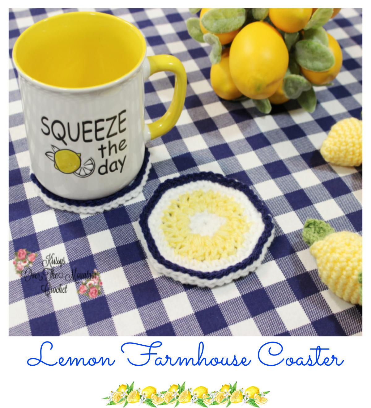 Lemon Farmhouse Coasters are so fast and fun to make.