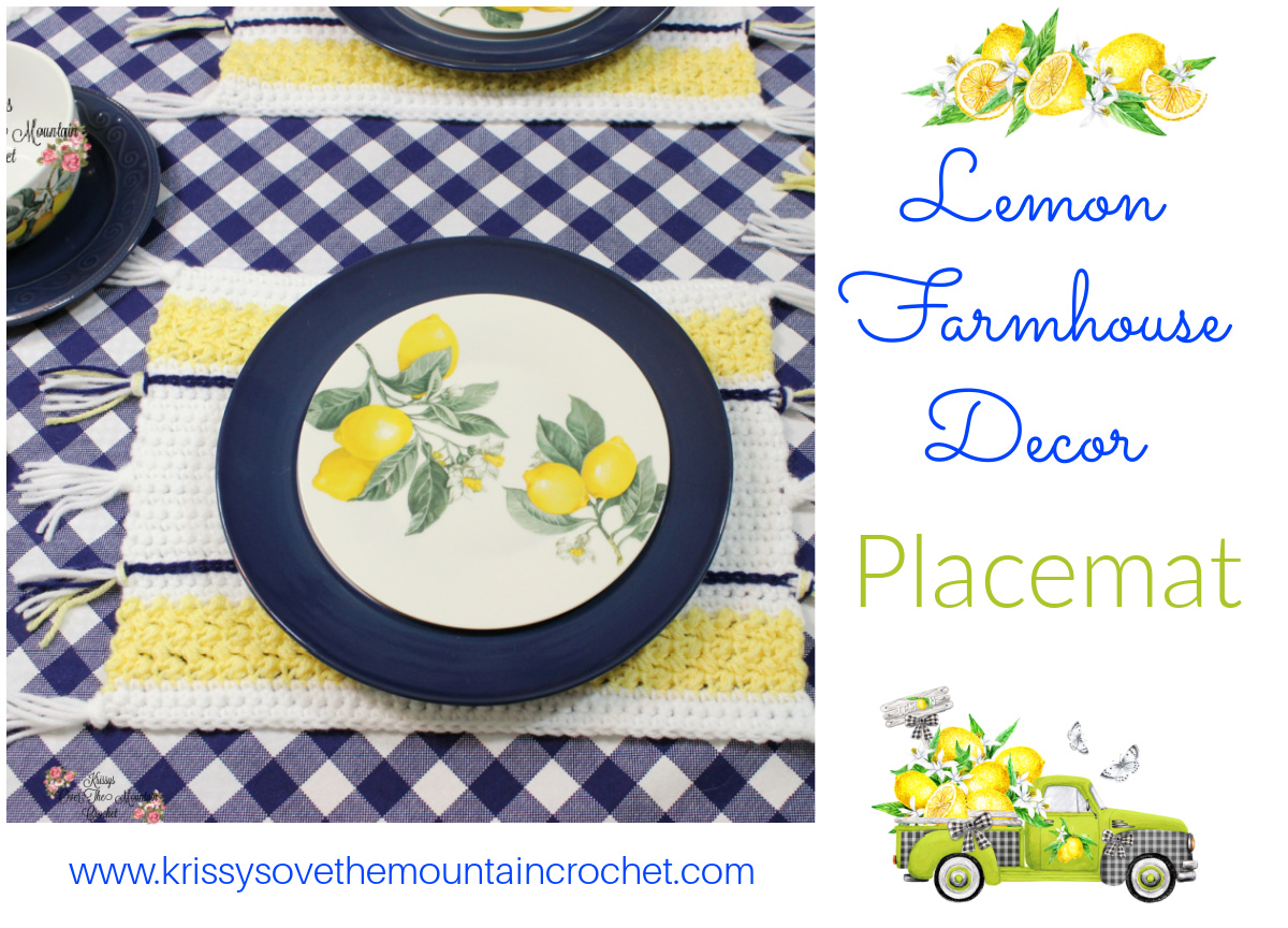 Crochet this Farmhouse Placemat for your country table.