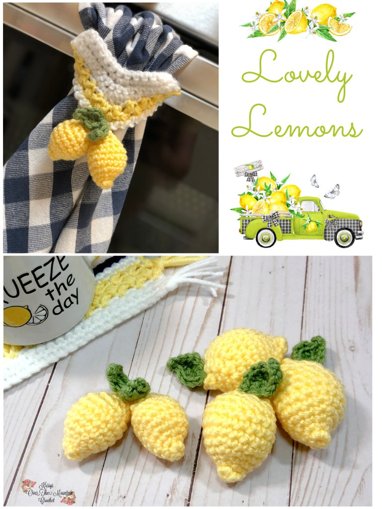 Crochet lemons are so fun to decorate your farmhouse home.