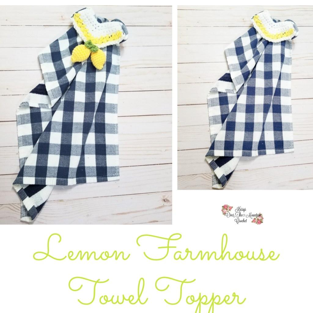Lemon Towel Topper for your Farmhouse Kitchen.