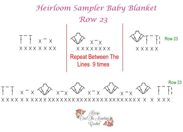Crochet Chart Row 23