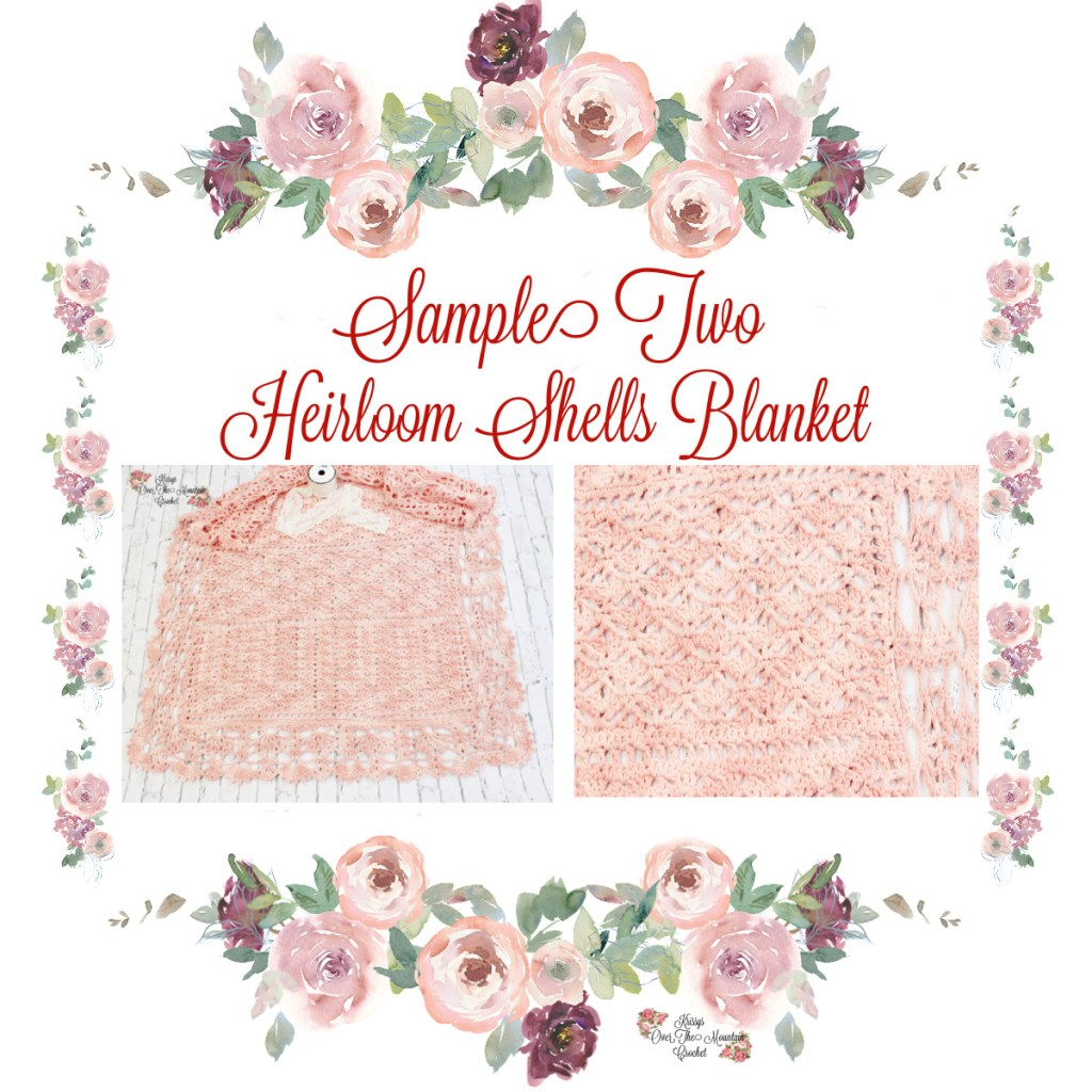 Sample 2 Heirloom Shells Blanket
