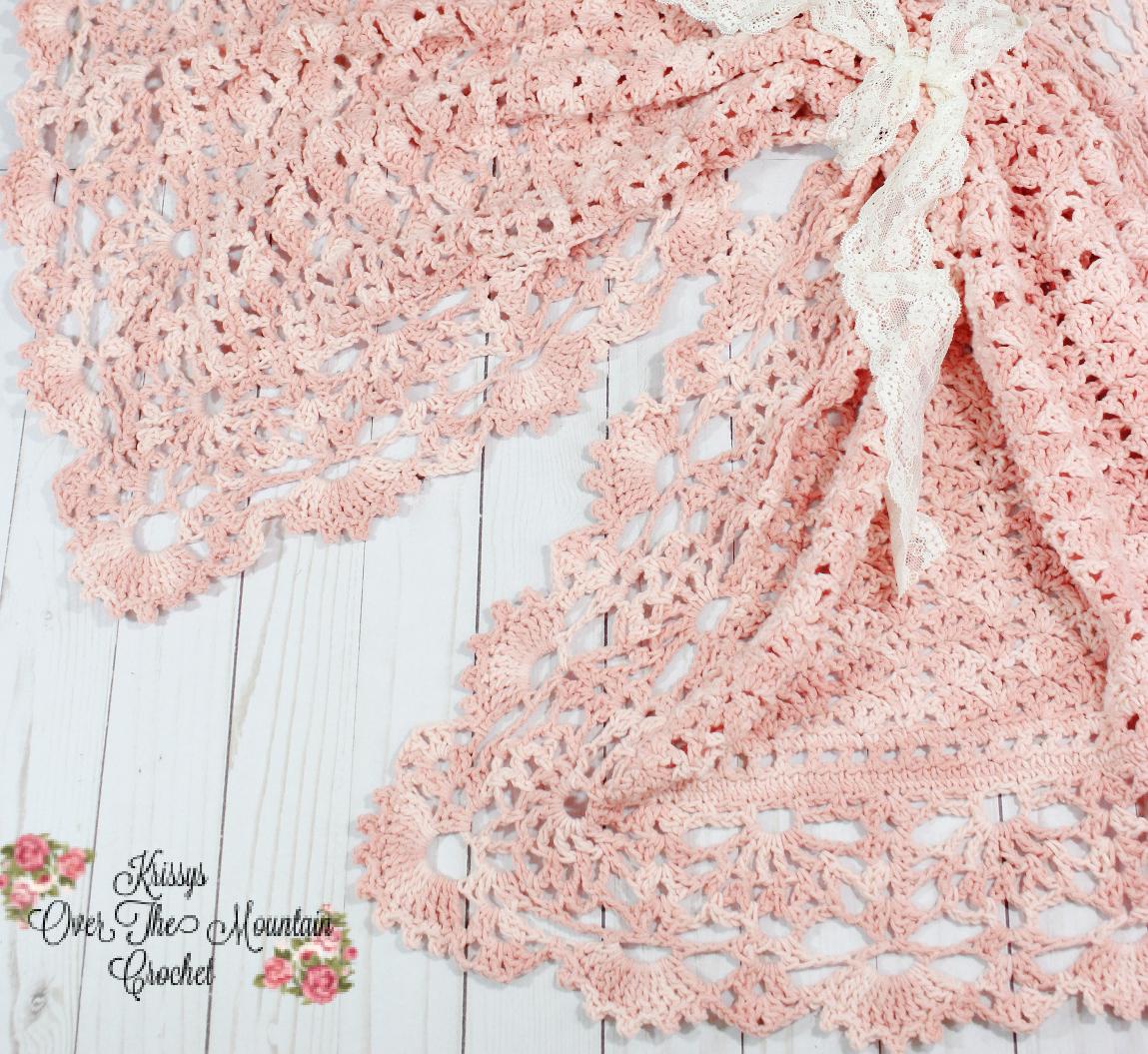 Lace Border - Heirloom Shells Sampler Crochet Baby Blanket
