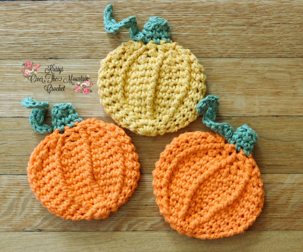 Crochet Pumpkin Dishcloth