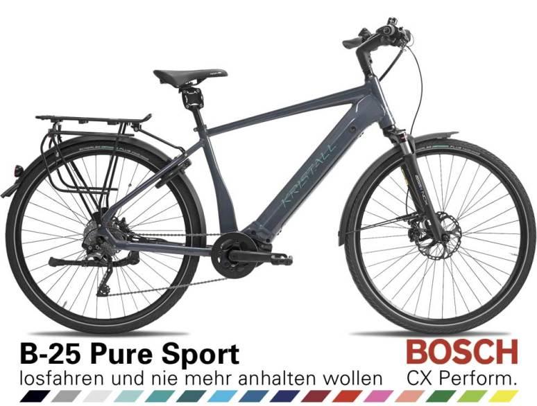 Auswahl KRISTALL B-25 Pure Sport, Herren Geometrie, mit BOSCH Performance Line CX