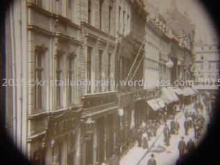 Blick auf die Hohe Str. 1910 Stereoskopie 2