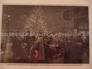Durchreisende Truppen zur Weihnachtszeit 1914 Köln Hauptbahnhof