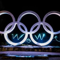 Olympic Rings and light painting