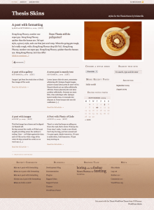 A warm full-width skin for the Thesis theme