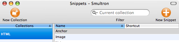 Smultron Snippets Window