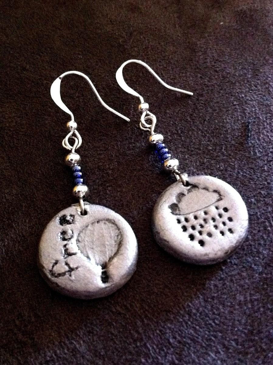 Air-dry clay jewellery
