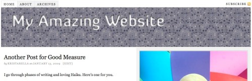 Header image using CSS replacement