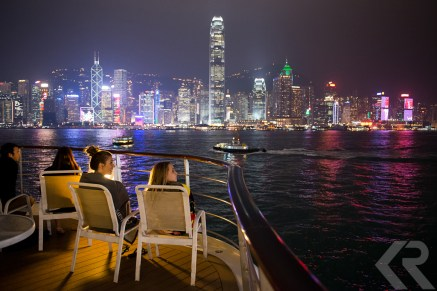Hong Kong skyline viewed from ship.