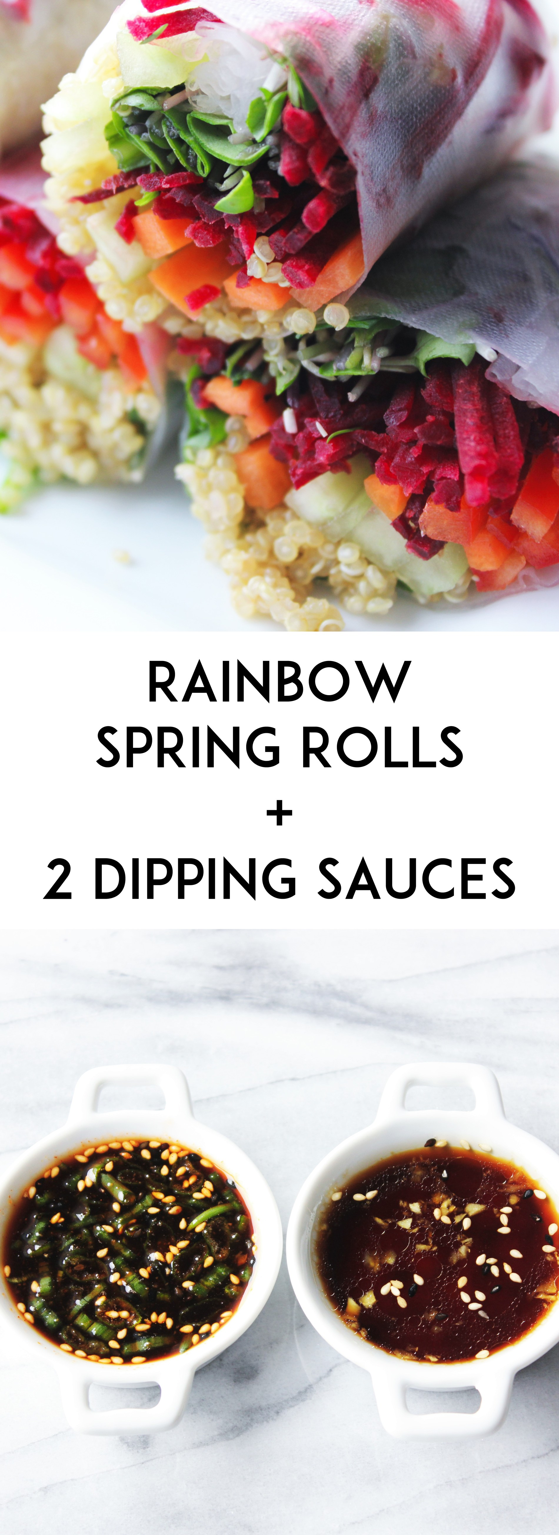 Rainbow Spring Rolls 2 Dipping Sauces