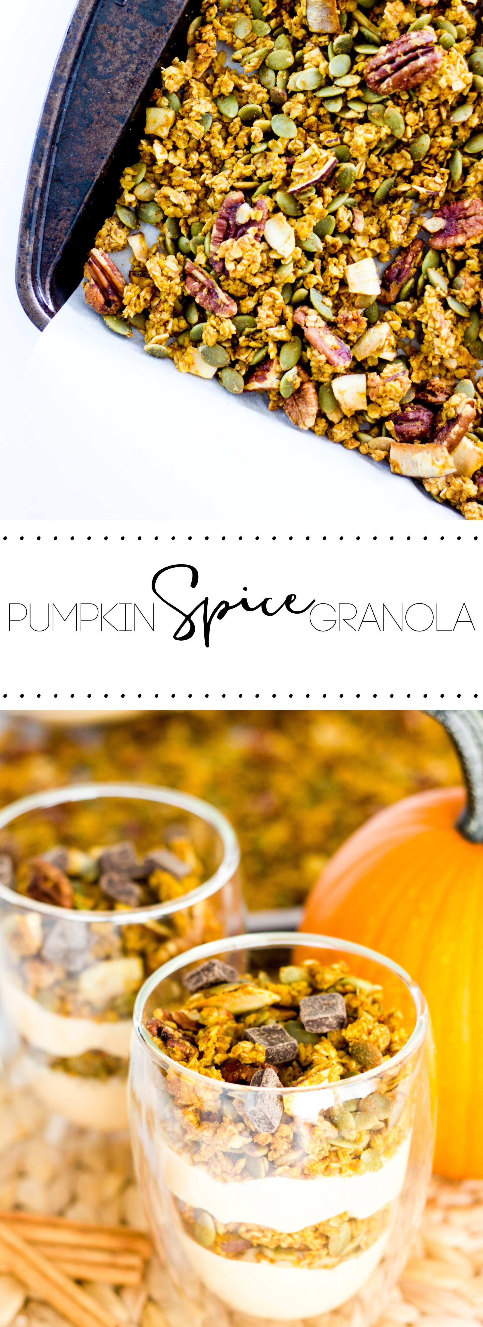 Pumpkin spice and everything nice— This crunchy pumpkin spice granola is the perfect healthy alternative to enjoying the seasonal flavor.