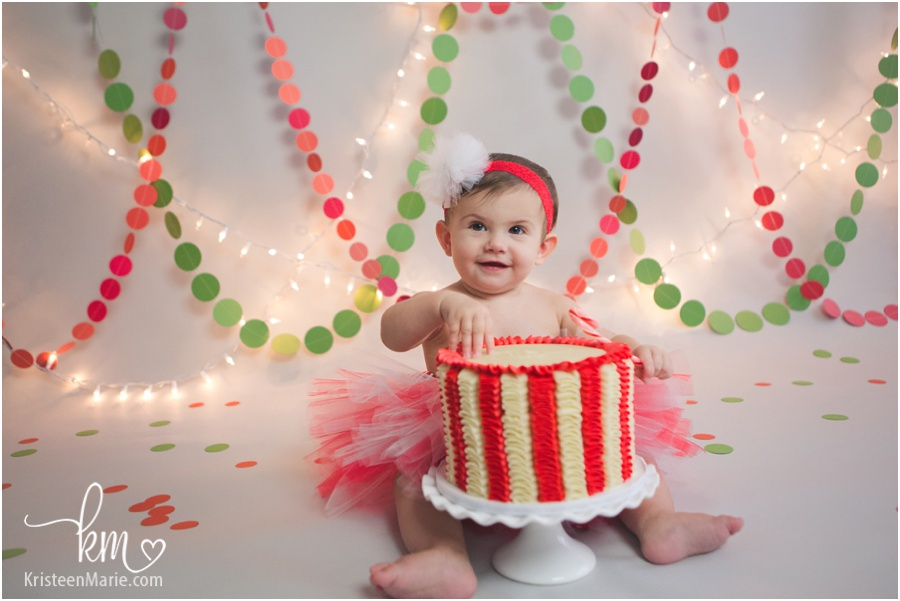 Christmas Themed 1st Birthday Cake Smash Session