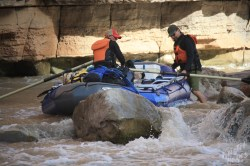 San Juan River: Carolann & Sebastian at Government Rapid