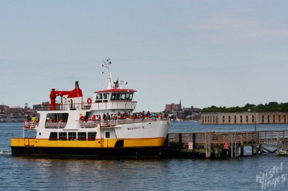Casco Bay Ferry at Little Diamond Island