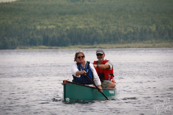 Stacy & Bill Paddling near Sandy Point