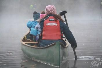 Family Canoe Trip on Foggy Royal River-Yarmouth, Maine