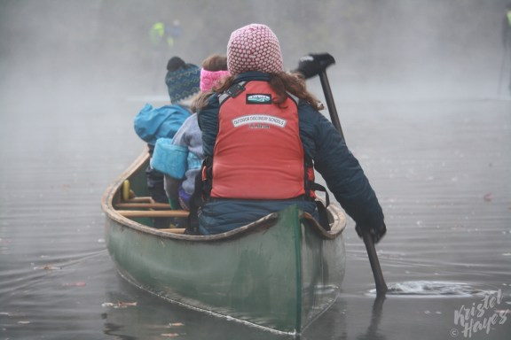 Family Canoe Trip on Foggy Royal River-Yarmouth, Maine